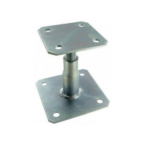 Pied de poteau à platine réglable APB100/150, hauteur 100/150 mm