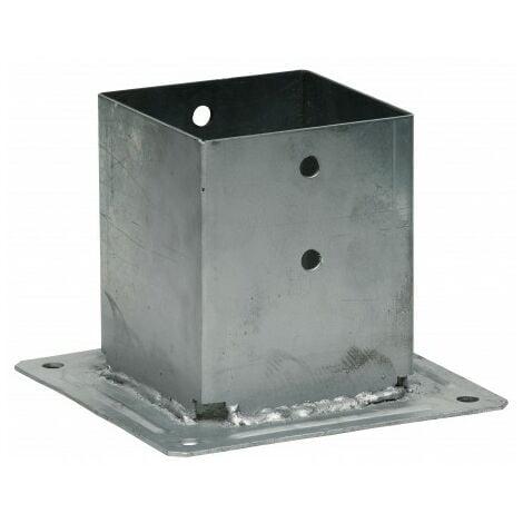 Pied de poteau carré à boulonner 100x100