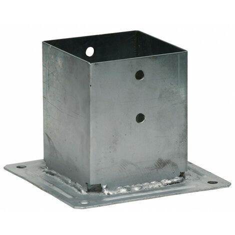 Pied de poteau carré a boulonner 90x90ep 2 mm