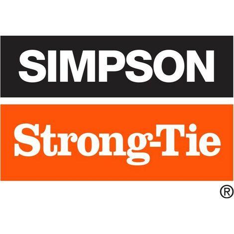 Pied de poteau carré à enfoncer - Coloris Noir - 71 mm