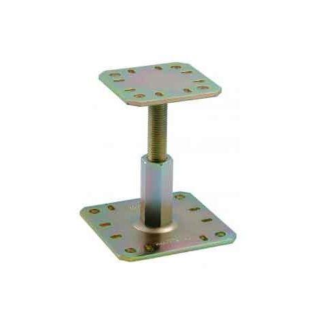 Pied de poteau reglable 100-150 bichro 100x100 - 130x130 Simpson