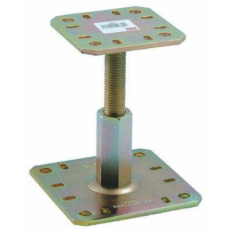 Pied de poteau réglable en charge PPRC, hauteur 100/150 mm
