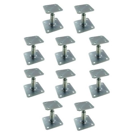 """main image of """"Pied de poteau réglable hauteur 100 à 150 mm APB100/150 SIMPSON Lot de 10"""""""