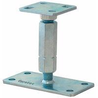 Pied de poteau réglable hauteur 110/180mm universel galvanisé