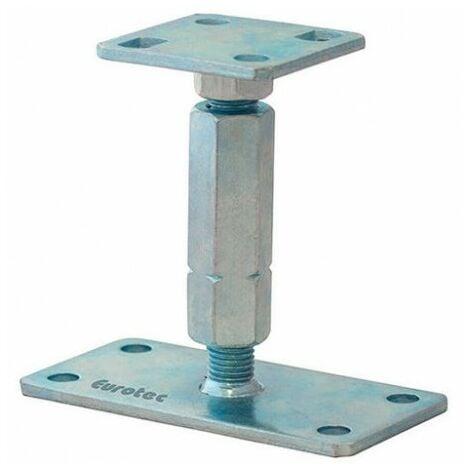 """main image of """"Pied de poteau réglable hauteur H120/195mm universel galvanisé B16X8"""""""
