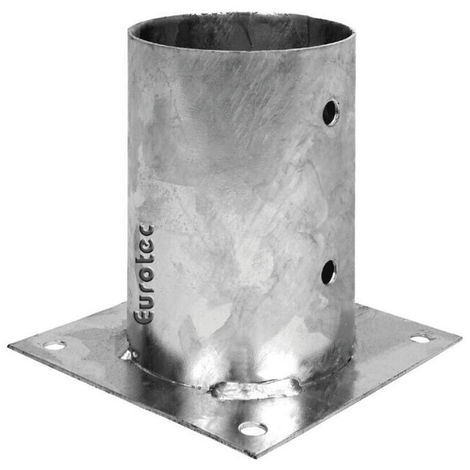 Pied de poteau rond à visser - ø10 et ø12 cm