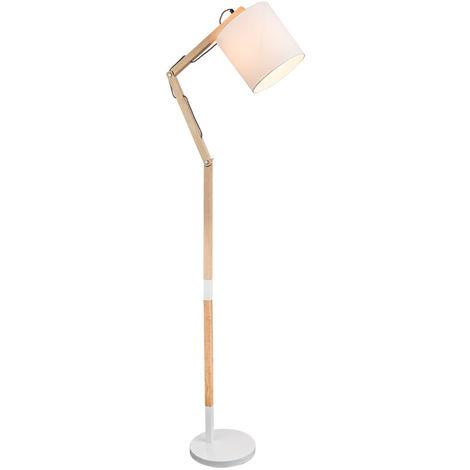 Pied de projecteur en bois spot textile pied de lampe hauteur réglable éclairage du salon Globo 21510S