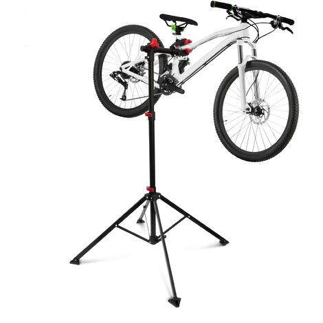 Pied de réparation vélo hauteur réglable pivotant entretien bicyclette atelier réglable Noir 105 -190 cm