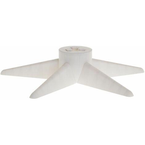 Pied de sapin design étoile Xmas - Blanc - Blanc