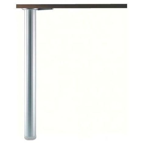 Pied de table aluminium cannelé Ø60 - Décor : Argent - Tube diamètre : 60 mm - Type de section : Ronde - Réglage : + 30 mm - : - Hauteur : 700 mm - Diamètre : 60 mm - CAMAR