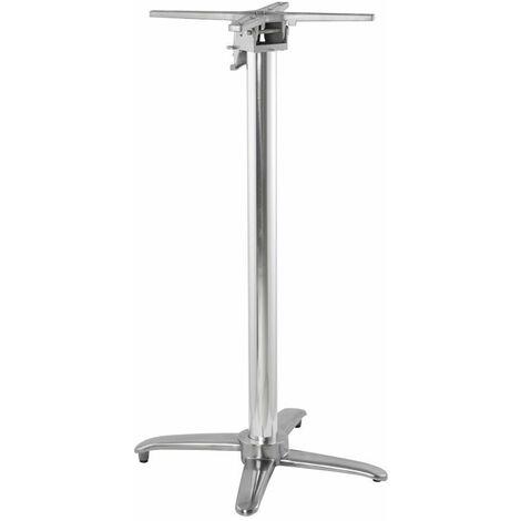 Pied de Table Chromé 110cm - Argenté