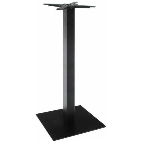 Pied de Table Embase Carrée 110cm - Noir