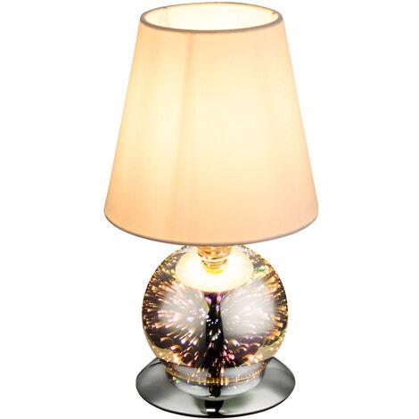 Pied de table en verre Luminaire Effet 3D Salon textile rond Éclairage Stand Lamp Globo 24132T