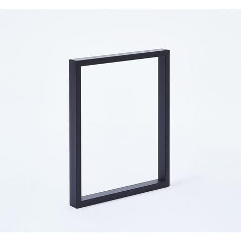 Pied de table forme rectangulaire noir 110 x 59 cm - Lot de 2