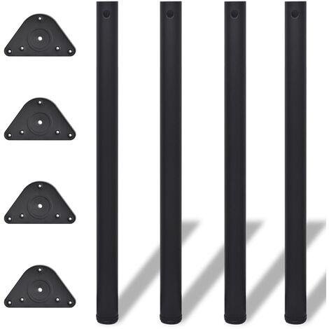 Pied de table réglable en hauteur 4 pcs 870 mm Noir