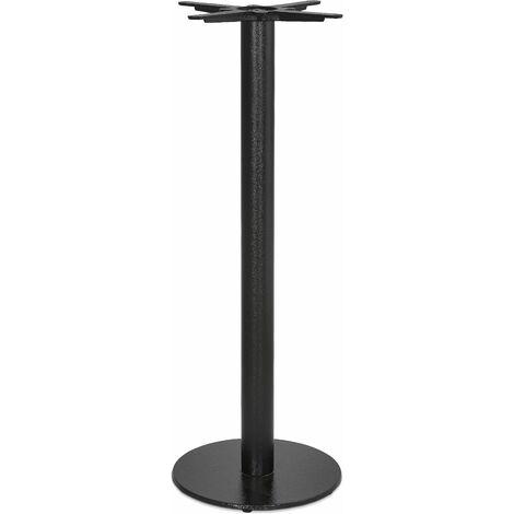 Pied de Table Rond Design 110cm Noir - Noir