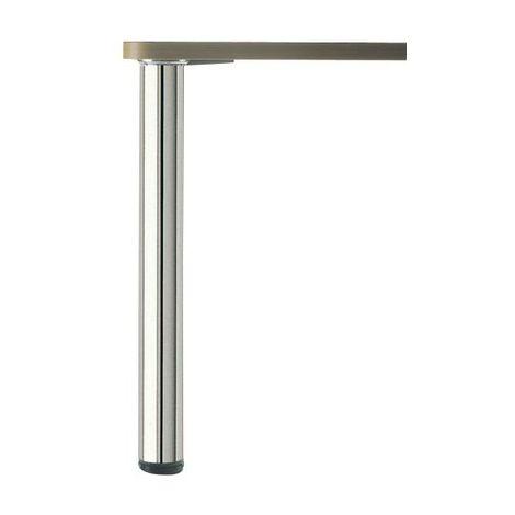 PIED DE TABLE ROND Inox poli H 820 x 80