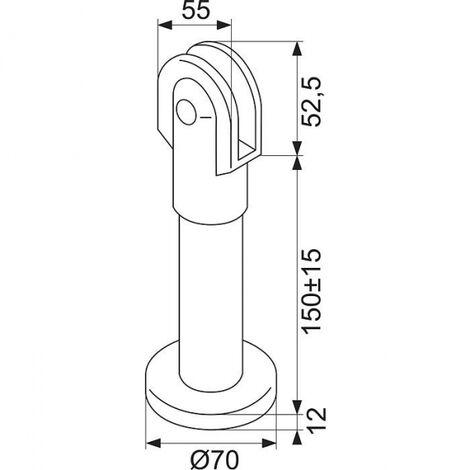 Pied réglable sans scellement NY.STF 95.0 - g18 - Normbau