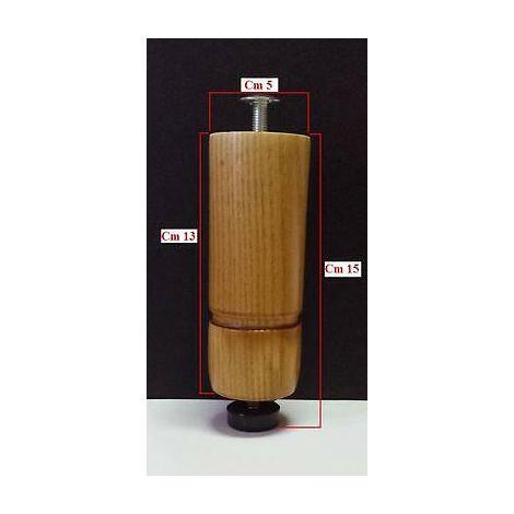 Piedino piede mobile mobili cucina legno grezzo cm15 made in italy colori  disponibili: grezzo