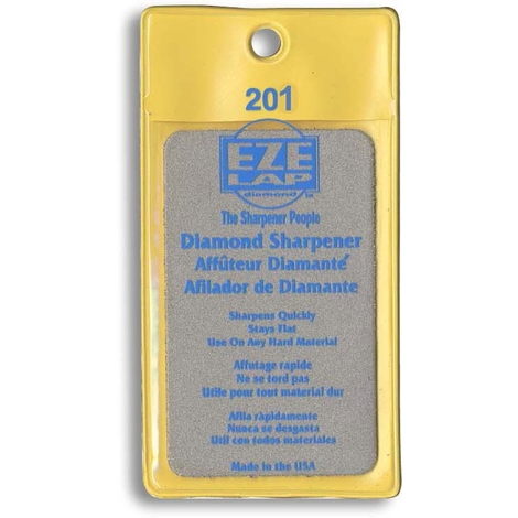 Piedra de afilado de diamante tamaño tarjeta grano medio 201M Eze-Lap