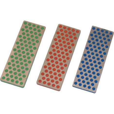 Piedra de afilar-Sy W7EFC 70X25 rojo/bl/gr DMT