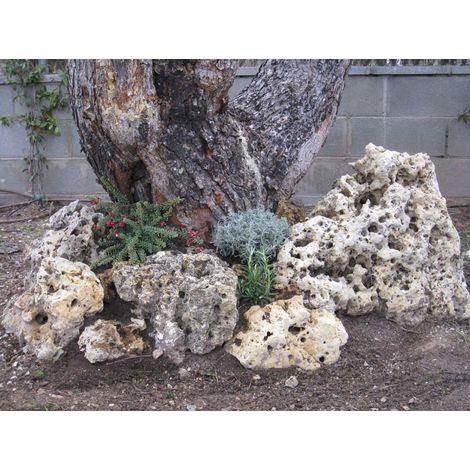 PIEDRA de Rocalla de musgo Negra Jaula de 1000Kg.