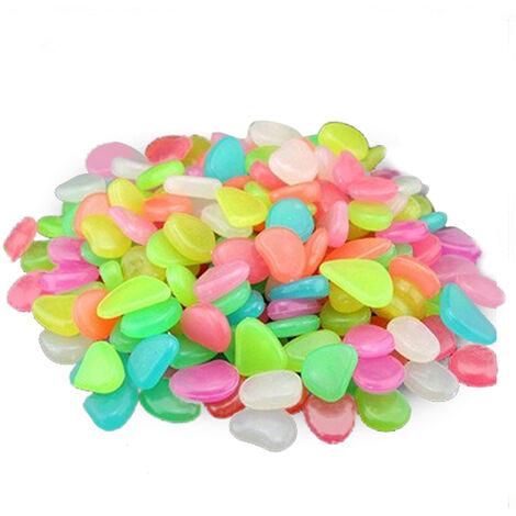 Piedra fluorescente artificial, piedra de cantos rodados, 500 piezas, colores mezclados