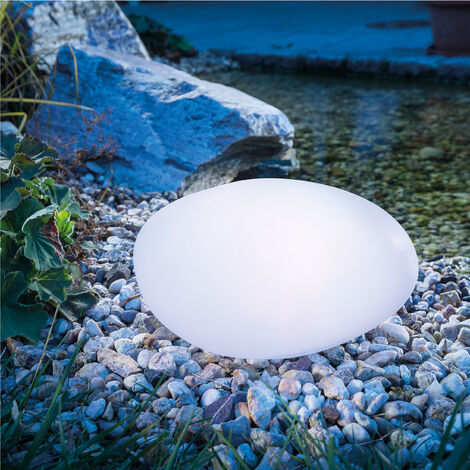 Piedra luminosa solar con 7 colores de luz para jardín, esotec 106102
