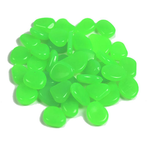 Piedras de guijarros acu¨¢ticos fluorescentes, 500, turquesa, estilo 9