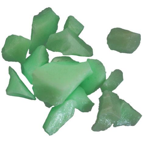 Piedras de jardin, rocas de piedras luminosas de energia solar, 100 g,verde
