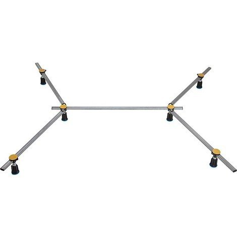 Pieds de receveur R6 SGS XXL pour bac douche en acier/acrylique de 75x75cm - 120x120cm