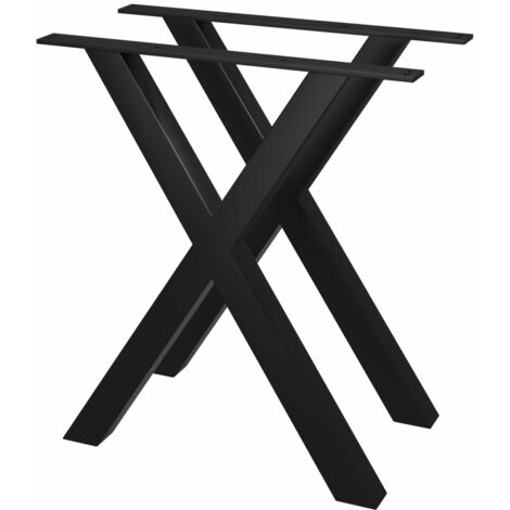 Pieds de table de salle à manger 2 pcs Cadre en X 70x72 cm
