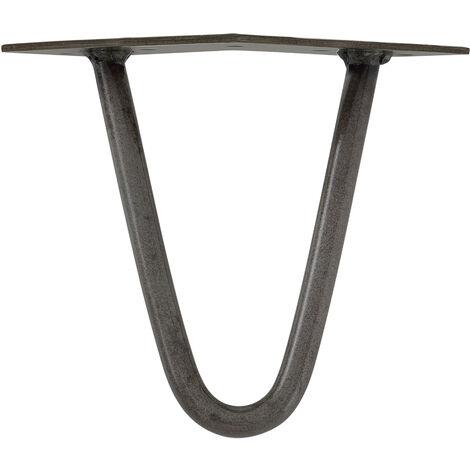 Pieds de table en épingles à cheveux – set de pieds de table en épingles à cheveux (4 piéces) - 15 cm - argent - 2 branches
