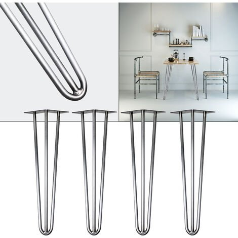 Pieds de table Hairpin Legs Support de table 4x Pieds de table en épingle à cheveux Acier 30cm