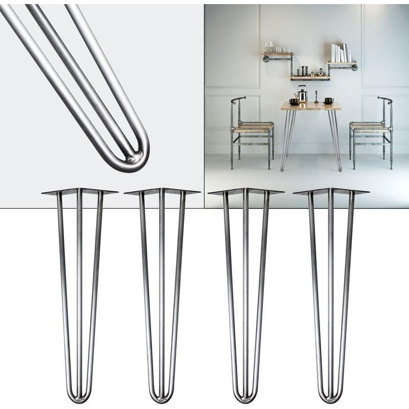 Pied De Table Epingle.Pieds De Table Hairpin Legs Support De Table 4x Pieds De Table En Epingle A Cheveux Acier 60cm