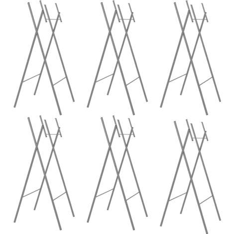 Pieds de table pliable 6pcs Argente 45x55x112cm Acier galvanise
