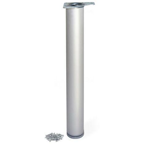 Pied De Table Alu.Pieds Pour Table En Aluminium O80mm 710mm