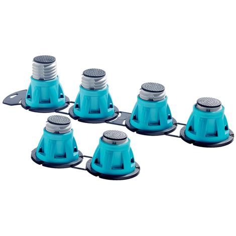 Pieds réglables pour receveur de douche - 6 pièces