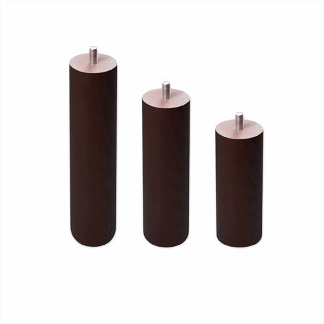 Pieds ronds en bois - Fil métrique 10 (1 cms)