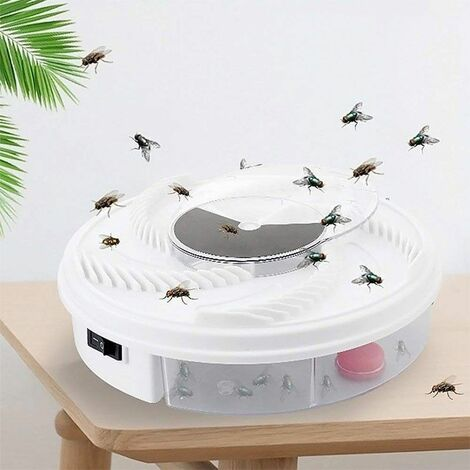 Piège à mouche électrique et rotatif