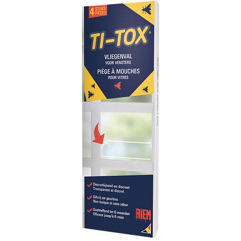 Piège à Mouches Adhésifs Vitres TI-TOX Lot de 4