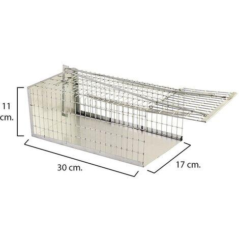 Piège Rats Cage Métal Complet 30cm