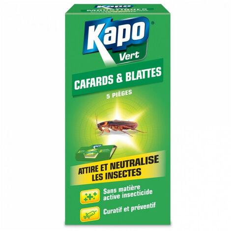 Pièges à glue Spécial Cafards/Blattes (x5) KAPO Vert