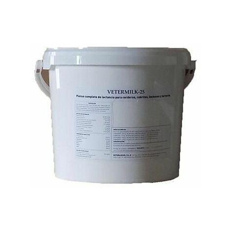 Pienso completo de lactancia VETERMILK 25 para corderos, cabritos, lechones y terneros - Cubo 3,5Kg