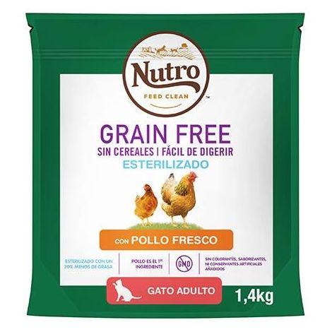 Pienso Nutro Grain Free Esterilizado Pollo 1,4 Kg
