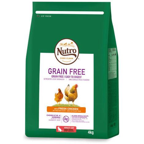 Pienso Nutro Grain Free gato adulto de pollo - 4kg