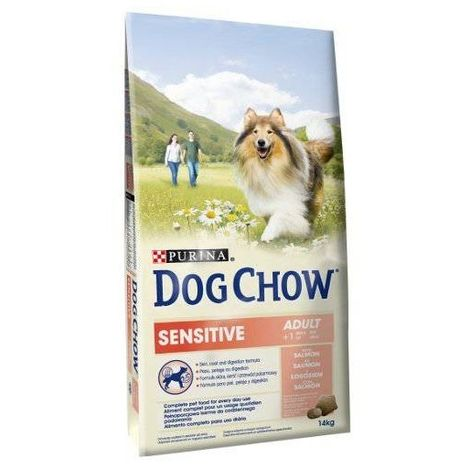 Pienso PURINA DOG CHOW SENSITIVE SALMÓN Y ARROZ para perros adultos