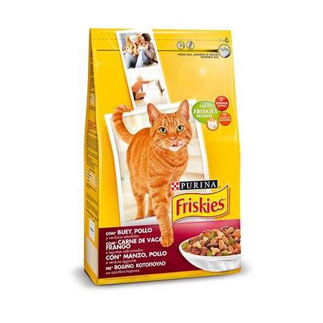 Pienso PURINA FRISKIES BUEY&POLLO&VERDURAS para gatos