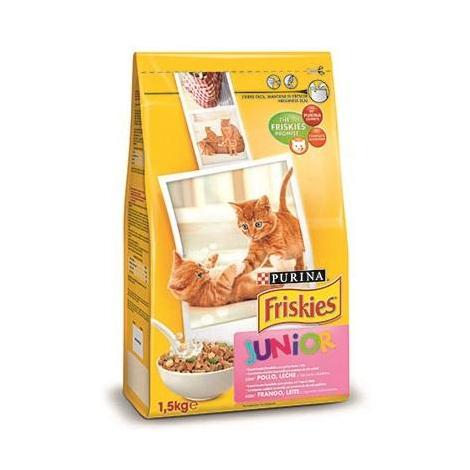 Pienso PURINA FRISKIES POLLO&LECHE&VERDURAS para gatitos - 1,5 Kg