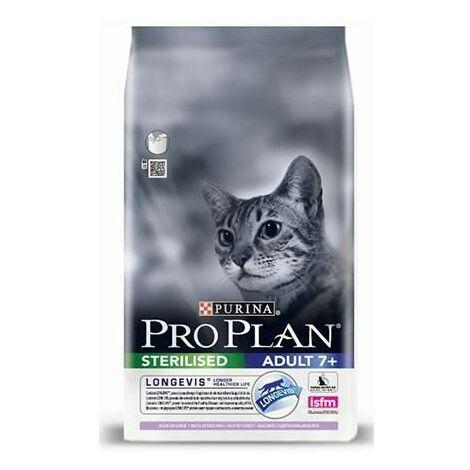 Pienso PURINA PRO PLAN STERILISED +7 PAVO para gatos maduros esterilizados